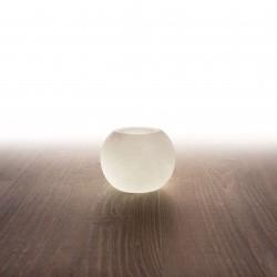 Himalája kristálysó mécses gömb, fehér