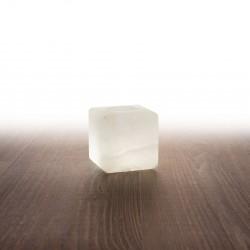 Himalája kristálysó mécses kocka, fehér