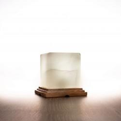 Himalája kristálysó lámpa kocka, fehér