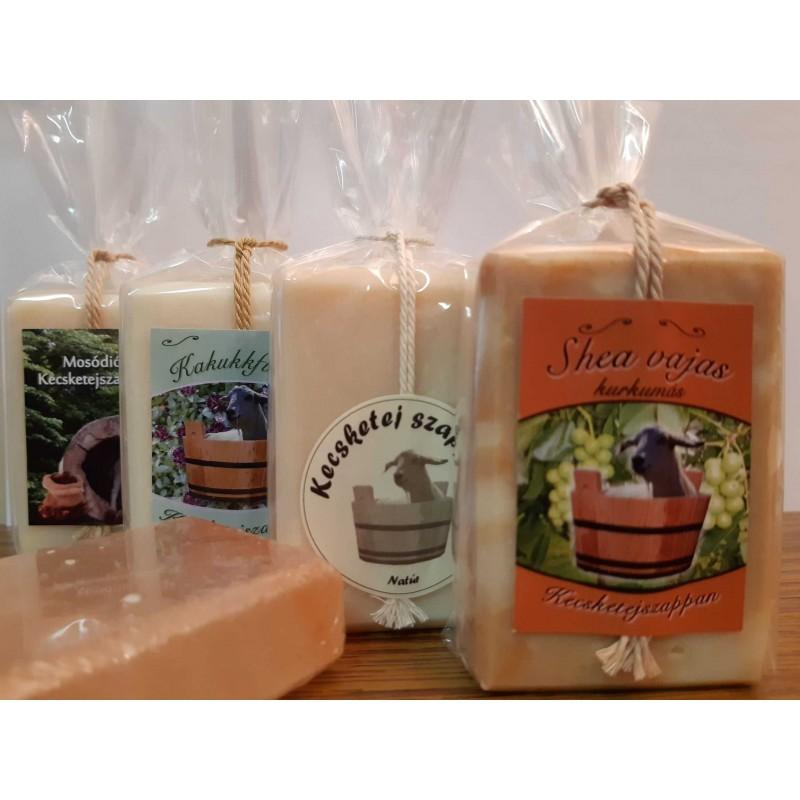 Kecsketej szappan csomag ajándék sószappannal
