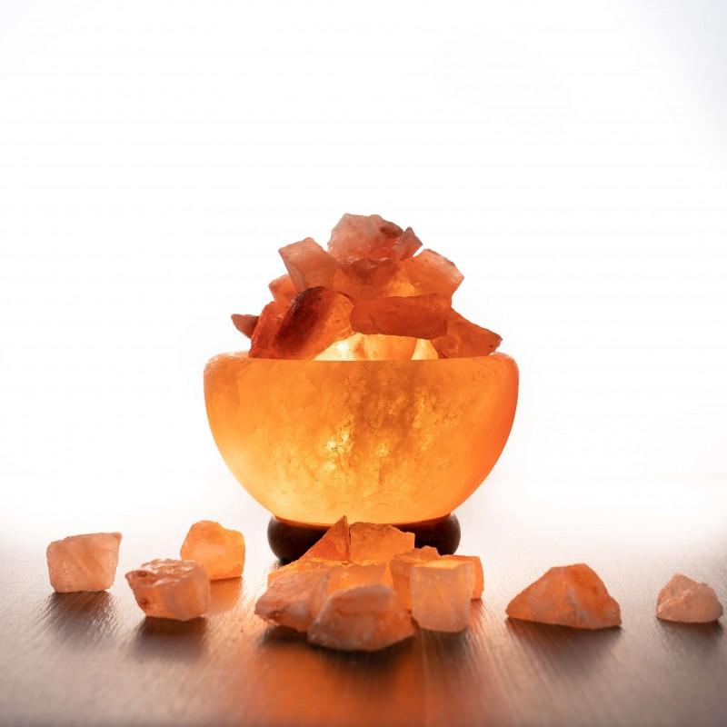 Himalája bowl kristálysó lámpa, nagy méretű