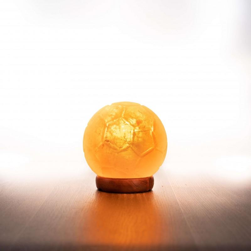 Himalája kristálysó lámpa, focilabda
